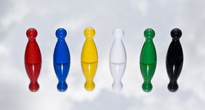 Coloured Game counters Stock Photo