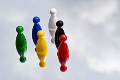 Coloured game playing pieces Stock Photography