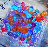 Coloured Gelatin balls. Close up view of some colored gelatin balls Picture taken on Novamber 1, 2014 royalty free stock image