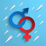 Coloured Gender Sign Background Royalty Free Stock Photos