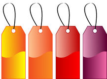 Coloured gift tags Stock Images