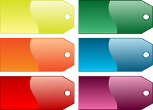 Coloured gift tags. Beautiful Various different coloured gift tags, isolated Stock Photo