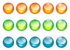 Coloured glass ball/web button Stock Images