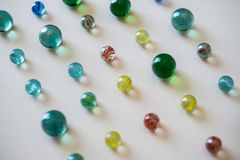 Coloured glass marbles, childhood game Stock Images
