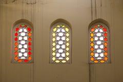 Coloured glass windows. Stock Photos