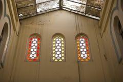 Coloured glass windows. Stock Photography