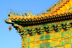 Coloured glaze building. In summer palace of Beijing royalty free stock images