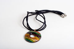 Coloured glaze necklace. A coloured glaze necklace,a good accessary to women Stock Images