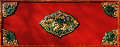 Coloured Glaze Screen Wall Royalty Free Stock Image