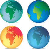 Coloured globes Royalty Free Stock Images
