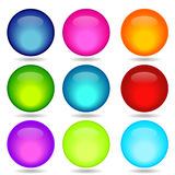 Coloured glossy and shiny network sphere. Stock Photos
