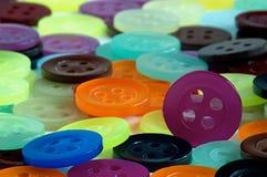 Coloured guziki Zdjęcia Royalty Free