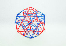 Coloured Handmade Dimensional Model Of Geometric Solid Stock Image