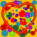 Coloured hearts Royalty Free Stock Image