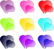 Coloured hearts Royalty Free Stock Photos