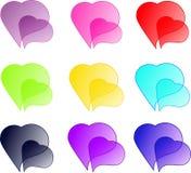 Coloured hearts Royalty Free Stock Photos