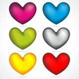 Coloured Hearts mix Royalty Free Stock Image