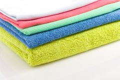 coloured herbacianego ręcznika wiele obraz stock