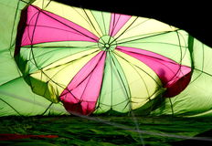 Coloured hot air baloon - inside Stock Image