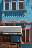 A coloured house of malta, near the beach of marsaxlokk Royalty Free Stock Image