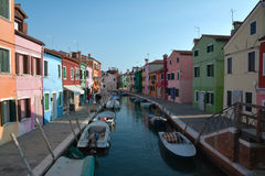 Coloured houses in Burano Royalty Free Stock Image