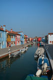 Coloured houses in Burano Stock Images