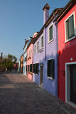 Coloured houses in Burano Stock Image