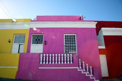 Coloured Houses In Cape Town Royalty Free Stock Photo