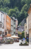 Coloured houses and terraces in Rattenberg, Austri Stock Image