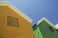 Coloured huts Stock Image