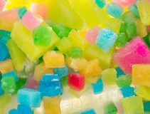 Coloured Ice Squares Stock Photography