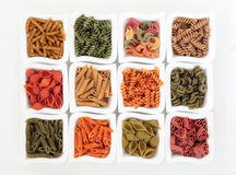 Coloured Italian Pasta Selection Stock Photo