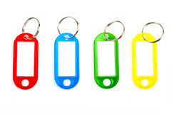 Coloured Key Tags Royalty Free Stock Photography