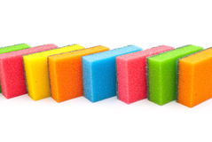 Coloured kitchen sponges Royalty Free Stock Photos