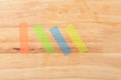 Coloured Kleisty na drewnie Fotografia Stock