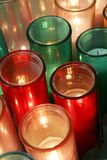 Coloured kościelne świeczki obrazy royalty free