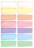 Coloured labels Royalty Free Stock Photo