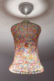 Coloured lampshade Royalty Free Stock Image