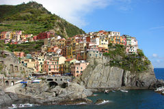 Coloured landscape. Houses at Cinque terre in Italy Royalty Free Stock Image
