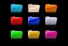 Coloured leopard folders Stock Photo