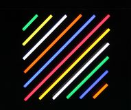 Coloured Light Tubes. royalty free stock images