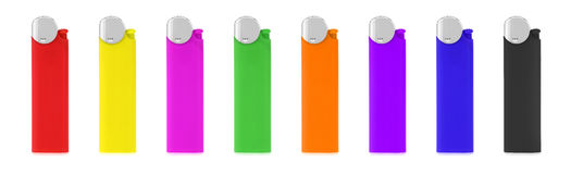 Coloured lighters Royalty Free Stock Images