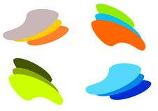 Coloured logo. A set of logos in different colors Stock Photography