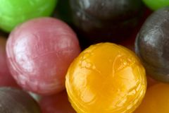 Lollipops with fruit bio stock photography
