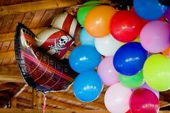 Coloured lotniczych balonów tło Zdjęcie Stock