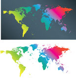 Coloured map Stock Photo