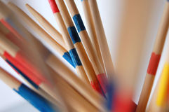 Coloured Mikado sticks. Pick-up sticks just few seconds before falling down Royalty Free Stock Image