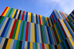 Coloured modern building Royalty Free Stock Photo