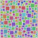 Coloured mosaic of squares Royalty Free Stock Images