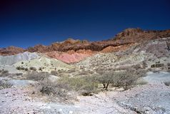 Coloured Mountains ,Salta,Argentina. Coloured Mountains in Humahuaca valley ,Salta,Argentina Stock Image